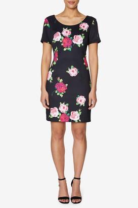 Betsey Johnson Floating Roses Scuba Dress