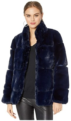 Apparis Sarah 2 Faux Fur Coat (Purple Clover) Women's Jacket
