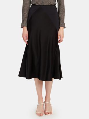 Diane von Furstenberg Carole Satin Midi Skirt