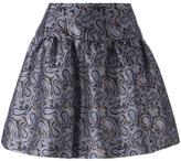 MICHAEL Michael Kors a-line paisley jacquard skirt - women - Polyester/Spandex/Elastane - 2