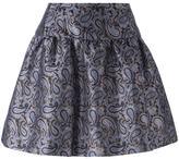 MICHAEL Michael Kors a-line paisley jacquard skirt - women - Polyester/Spandex/Elastane - 4