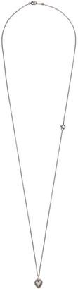 Ugo Cacciatori Silver Fat Heart Necklace