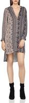 BCBGeneration Printed High/Low Shirt Dress