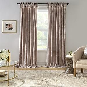 Elrene Home Fashions Korena Tie-Top Crushed Velvet Window Curtain, 52 x 84
