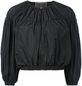 Giambattista Valli cropped ballon sleeve jacket - women - Polyester - 42