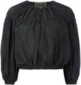 Giambattista Valli cropped ballon sleeve jacket