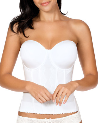 Parfait Elissa Full-Cup Low-Back Bustier, Pearl White