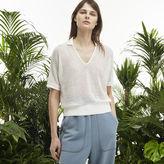 Lacoste Women's Fashion Show V-neck Mesh Polo Shirt
