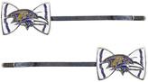 Aminco Baltimore Ravens Bow-Logo Bobby Pin - Set of Two