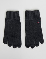 Tommy Hilfiger Pima Cotton Gloves In Charcoal Marl