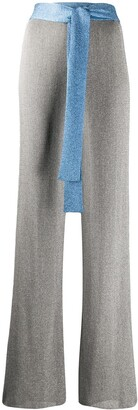 M Missoni Ribbed Flared Trousers
