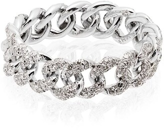 Shay 18K white gold and diamond link ring