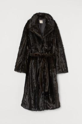 H&M Long Faux Fur Coat