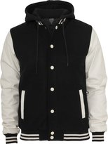 Urban Classics Urban Cassics Men's TB438 Hooded Odschoo Coege Jacket Bk/Wht