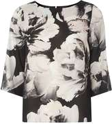 Dorothy Perkins Black Floral Print Top