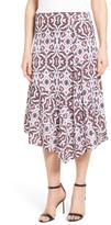 Classiques Entier Asymmetrical Hem Stretch Silk Skirt