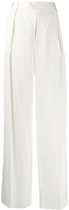 Bottega Veneta Wide-Leg Silk Trousers