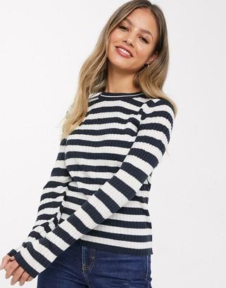 JDY Ebba long sleeve stripe knit top