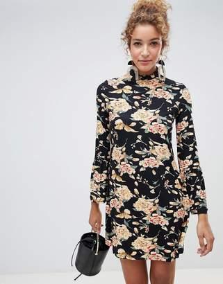Qed London QED London floral smock dress-Black
