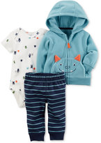 Carter's 3-Pc. Monster Hoodie, Bodysuit & Pants Set, Baby Boys (0-24 months)