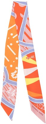 Hermes Jeu De Soie Uniforme twilly scarf