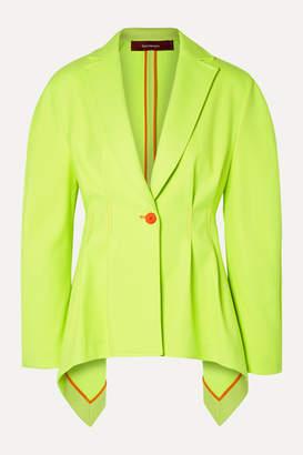 Sies Marjan Haru Neon Pleated Twill Blazer - Chartreuse