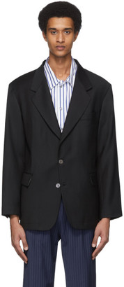 Martin Asbjorn Black Wool Greenleaf Blazer