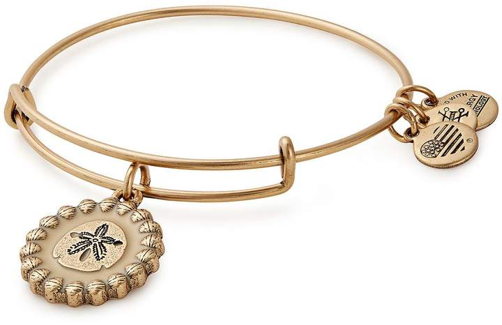 Alex and Ani Sand Dollar Color Infusion Charm Bangle