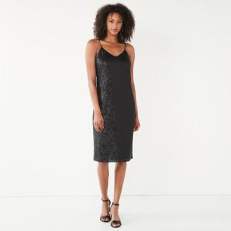 Nine West Women's Sequin Slip Dress