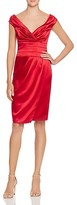 Kay Unger Satin Wrap Effect Dress