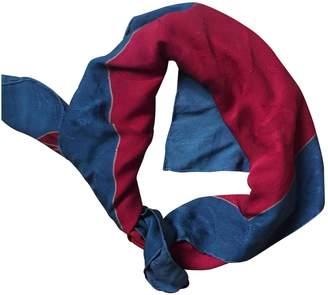 Cartier Red Polyester Silk handkerchief