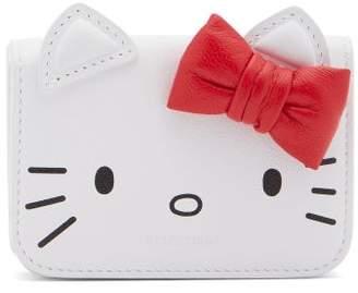Balenciaga Hello Kitty Leather Wallet - Womens - White Multi