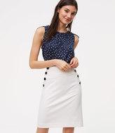 LOFT Petite Bi-Stretch Sailor Pencil Skirt