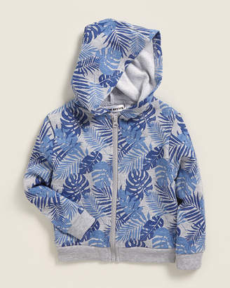 Mini Series (Toddler Boys) Palm Leaf Zip Hoodie