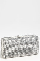 Sondra Roberts Crystal Mesh Box Clutch - Metallic