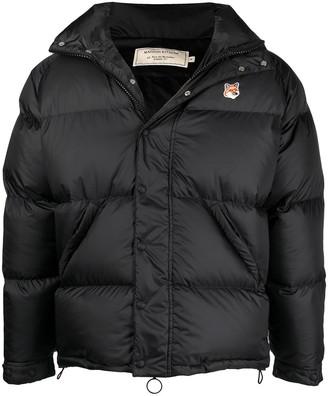 MAISON KITSUNÉ Logo-Patch Down Puffer Jacket