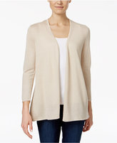 Charter Club Petite Pleated-Back Open-Front Cardigan, Only at Macy's