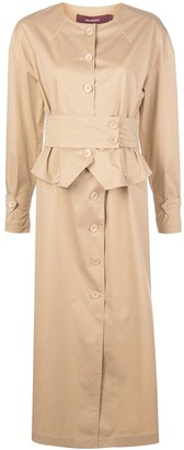 Sies Marjan Leah corset-waist shirt dress