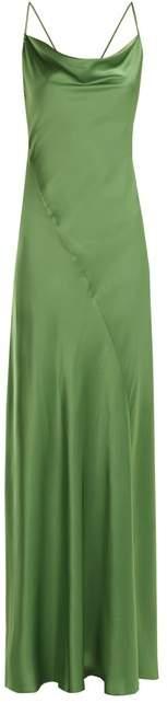 Diane von Furstenberg Bias Cut Satin Gown - Womens - Green