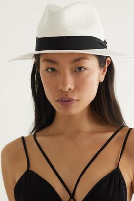 Rag & Bone Grosgrain-trimmed Straw Panama Hat - White
