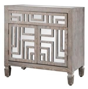 Stylecraft Two Door, One Drawer Cabinet with Mirror Design