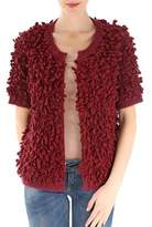 Stella Jean Women's Burgundy Acrylic Sweatshirt.