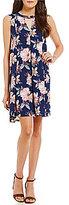 Blu Pepper Floral-Printed Sleeveless Shift Dress