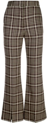 Adam Lippes Plaid Flared Trousers