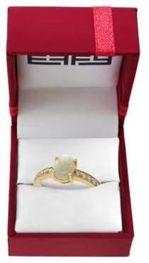 Effy Aurora Diamonds, Opal and 14K Yellow Gold Ring