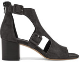 Rag & Bone Matteo Cutout Suede Sandals - Charcoal