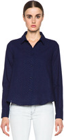 Boy By Band Of Outsiders Cropped Boxy Printed Top in Indigo
