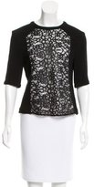 A.L.C. Lace-Accented Wool-Blend Top w/ Tags