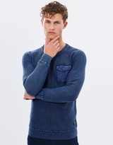 Scotch & Soda Powder Washed Crewneck Pullover