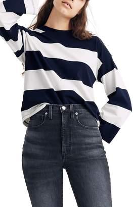 Madewell Rugby Stripe Easy Crop Long Sleeve Tee